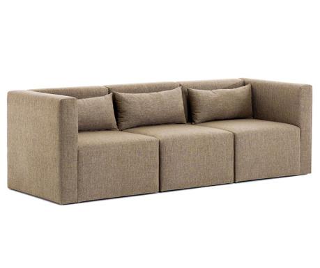 Canapea modulara 3 locuri Plus Brown
