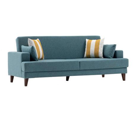 Canapea extensibila 3 locuri Kana Turquoise