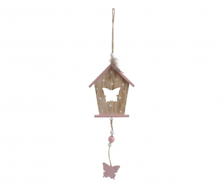 Decoratiune suspendabila Bird House Pink