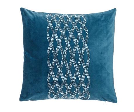 Perna decorativa Glam Stone Pattern Blue 43x43 cm