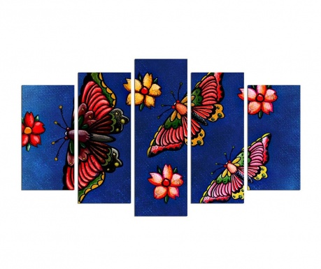 Set 5 tablouri Mariposa