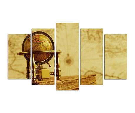 Set 5 tablouri Globe
