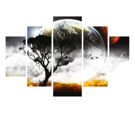 Set 5 tablouri Full Moon