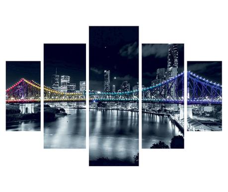 Set 5 tablouri Night Bridge