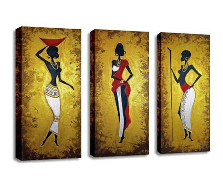 Set 3 tablouri Ancient 20x45 cm