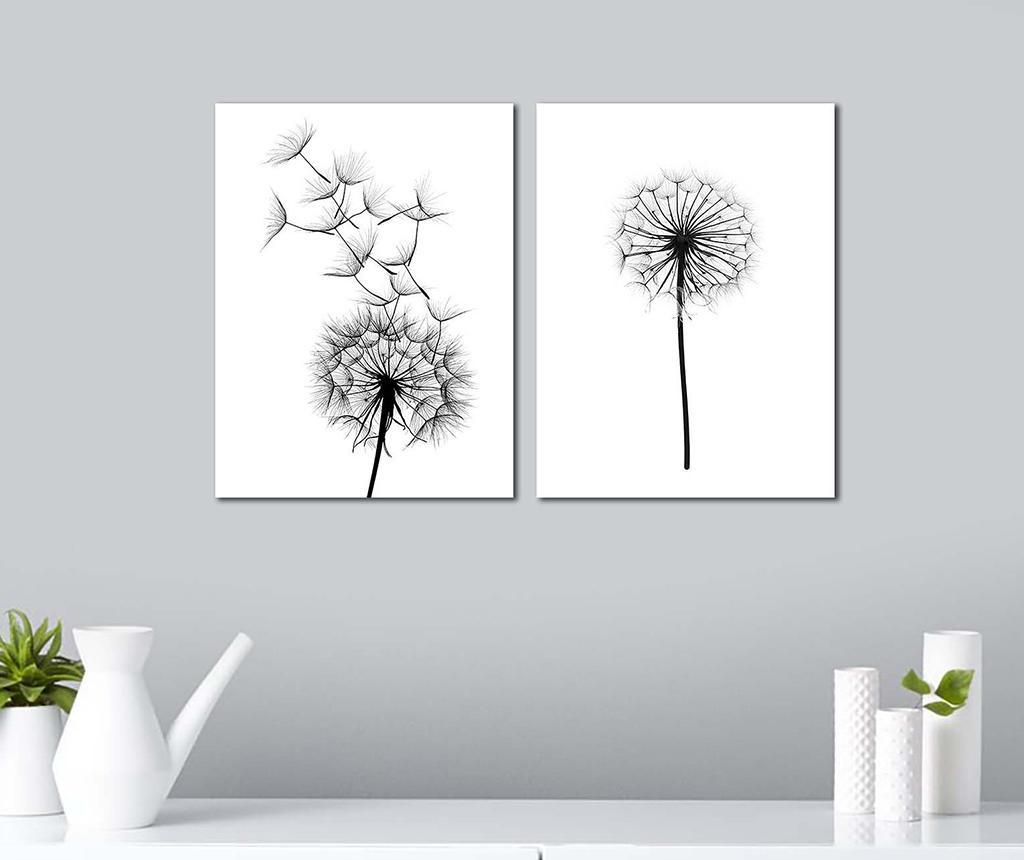 Set 2 slik Black Dandelions 30x40 cm