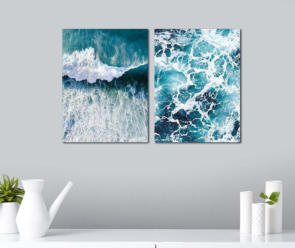 Set 2 slik Waves 30x40 cm