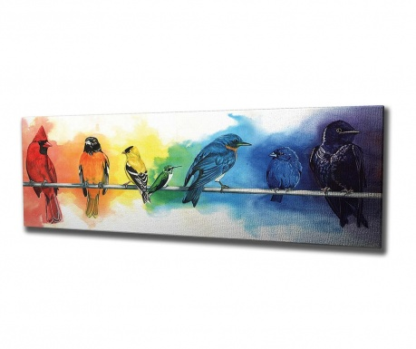Tablou Colourful Birds 30x80 cm