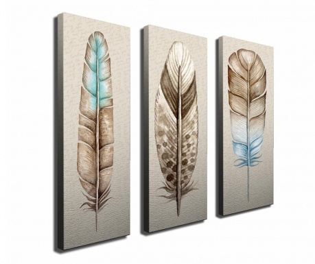 Set 3 slik Feather 20x70 cm
