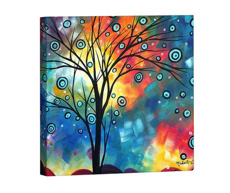 Tablou Colourful tree 33x33 cm