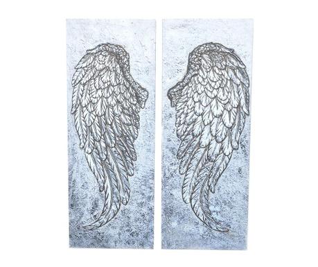 Set 2 tablouri Wings 27x68 cm