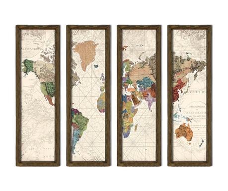 Set 4 tablouri Travel 19x70 cm