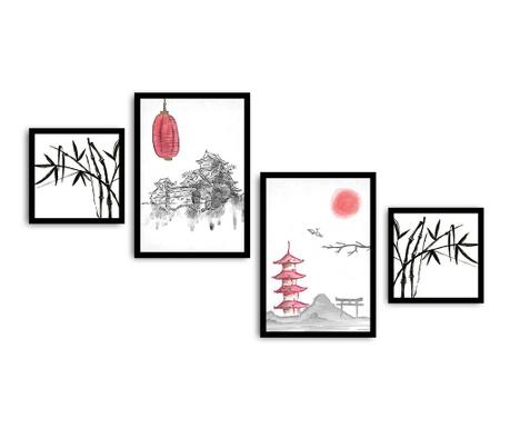 Set 4 tablouri Kyoto