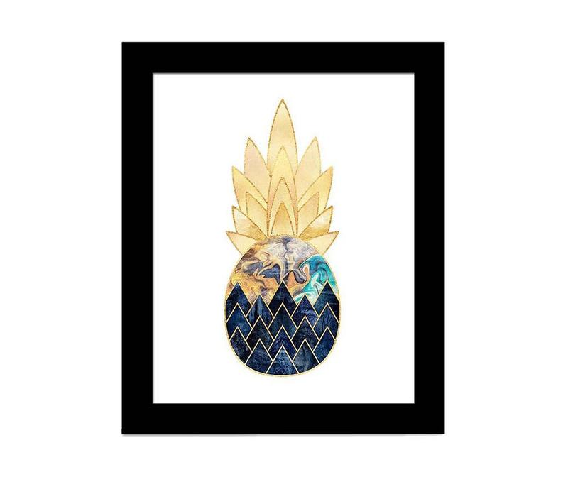 Tablou Glam Pineapple 23x28 cm