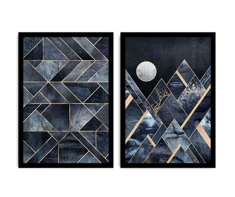 Set 2 tablouri Moon 36x51 cm