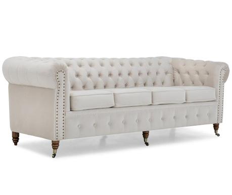Chesterfield Beige Négyszemélyes kanapé