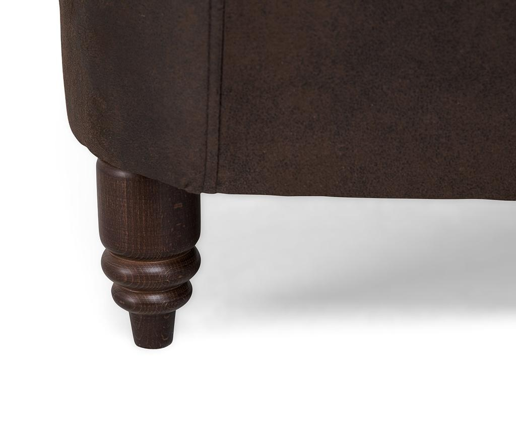 Kanapa dwuosobowa Chesterfield Vintage Brown
