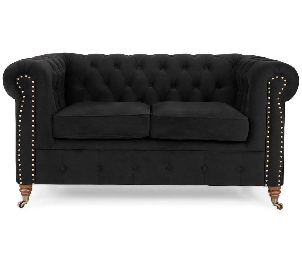 Chesterfield Black Kétszemélyes kanapé