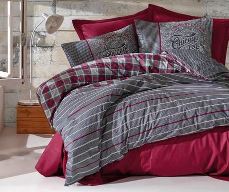 Спално бельо Single Ranforce Jonas Claret Red