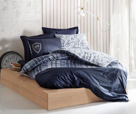 Спално бельо Single Ranforce Pablo Dark Blue