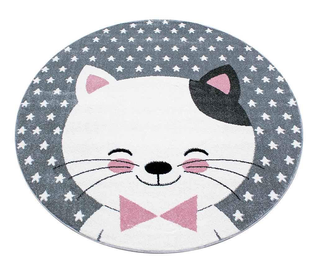 Preproga Kitty Round Pink 160 cm