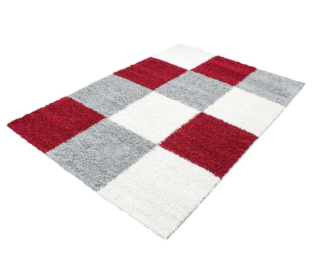 Koberec Life Squares Red 160x230 cm
