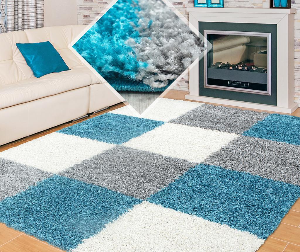 Koberec Life Squares Turquoise 80x150 cm