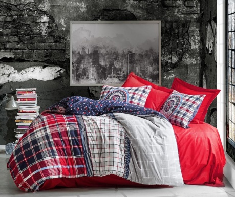 Спално бельо Single Ranforce Marco Red