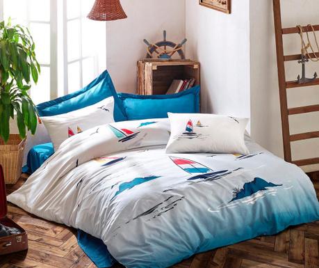 Спално бельо King Ranforce Neta Blue