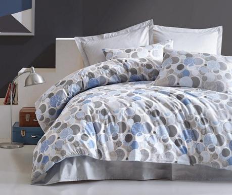 Спално бельо King Ranforce Poly Blue