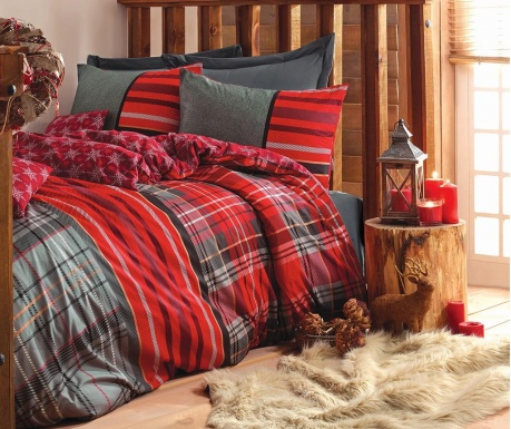 Спално бельо King Ranforce Santa Grey