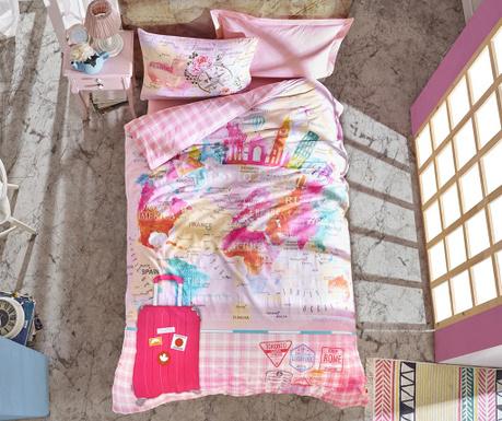 Escape Pink Egyszemélyes Ranforce ágynemű