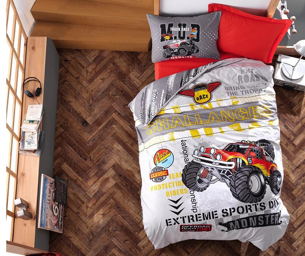 Спално бельо Single Ranforce Monster Red