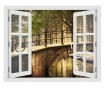 Window Amsterdam Bridge 3D Matrica