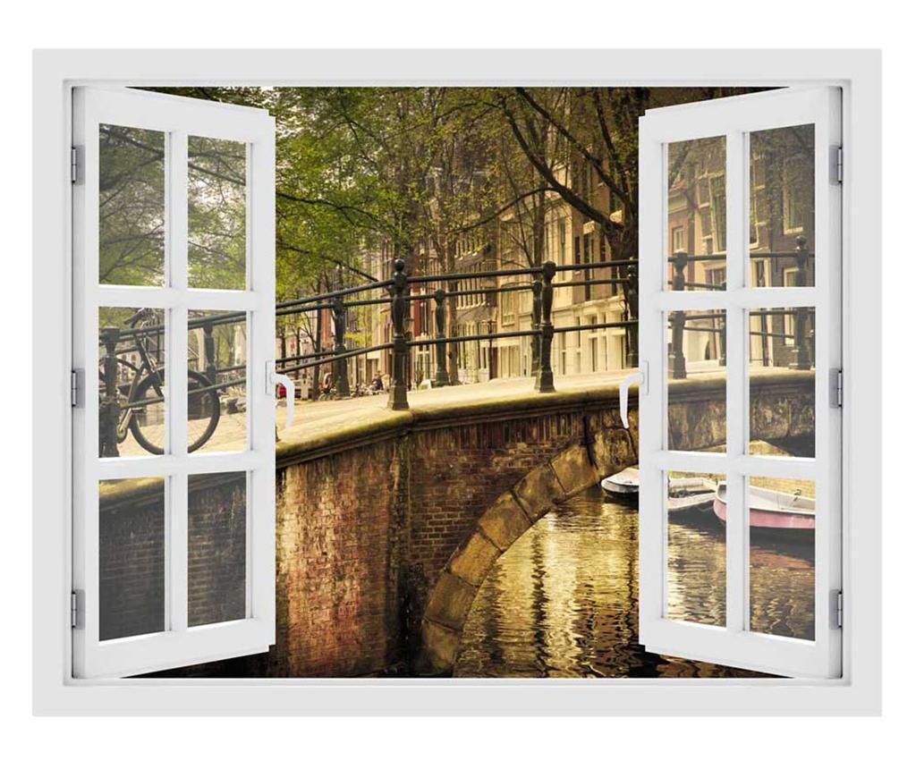 Window Amsterdam Bridge 3D Matrica