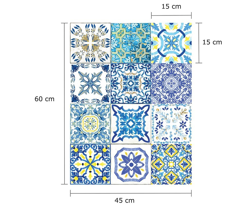 Set 24 nalepk Tile Gradient Blue
