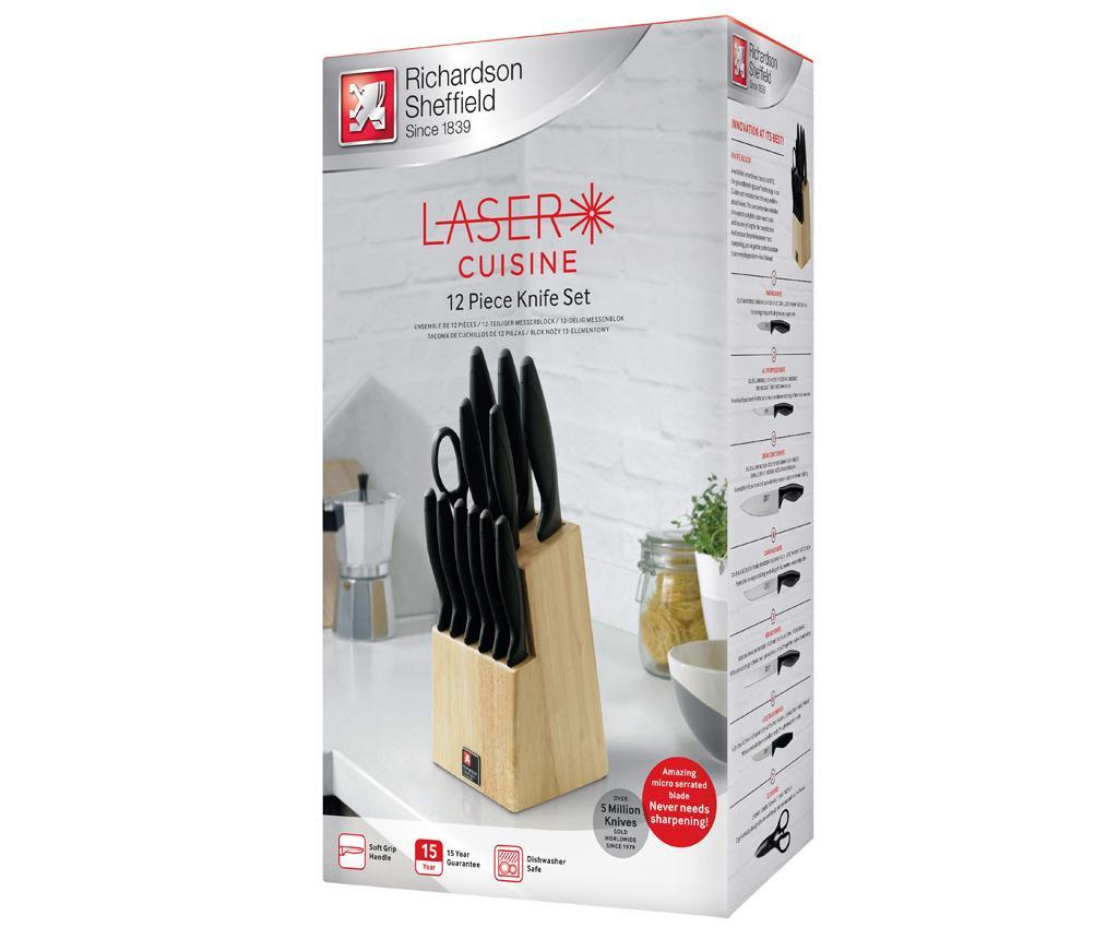Set 11 nožev, škarje in držalo Laser Cuisine