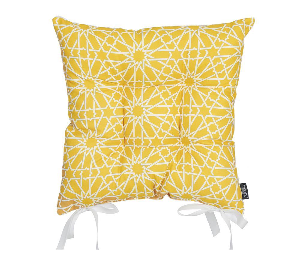 Perna de sezut Wheaton Yellow 37x37 cm