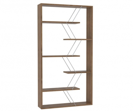 Biblioteczka Tars Walnut Chrome