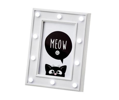 Okvir za fotografijo z LED sijalkami Meow With Love S