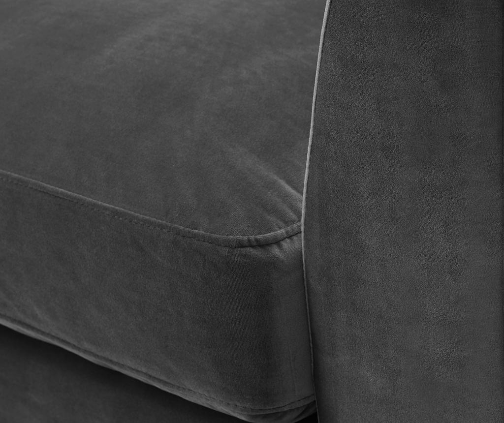 Canapea 3 locuri Times Dark Grey