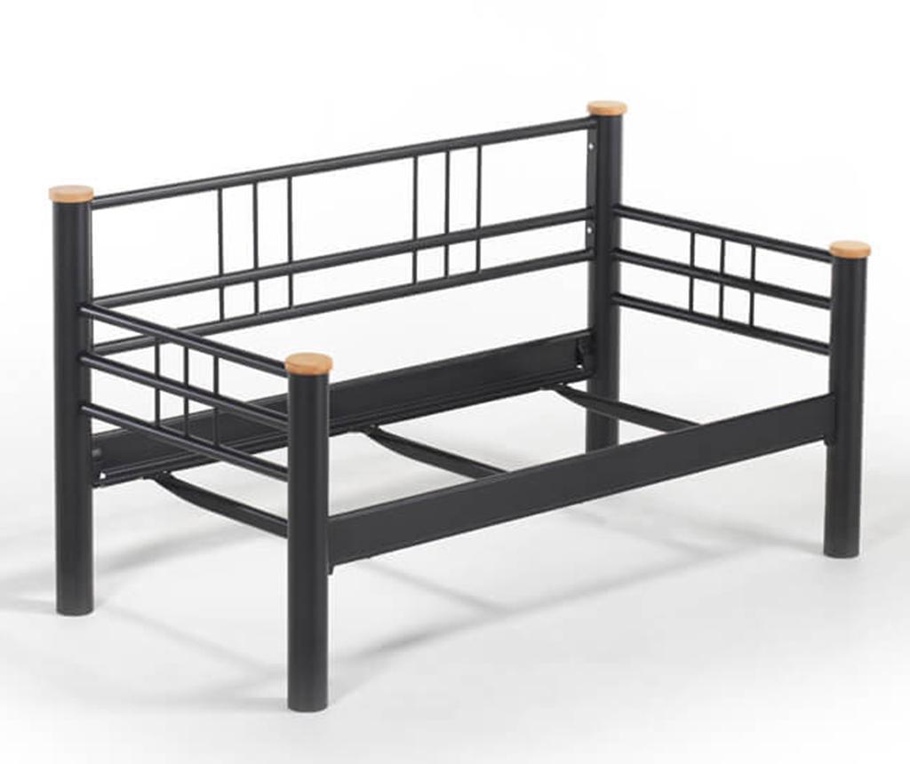 Canapea 2 locuri pentru exterior Kappis Black and Grey