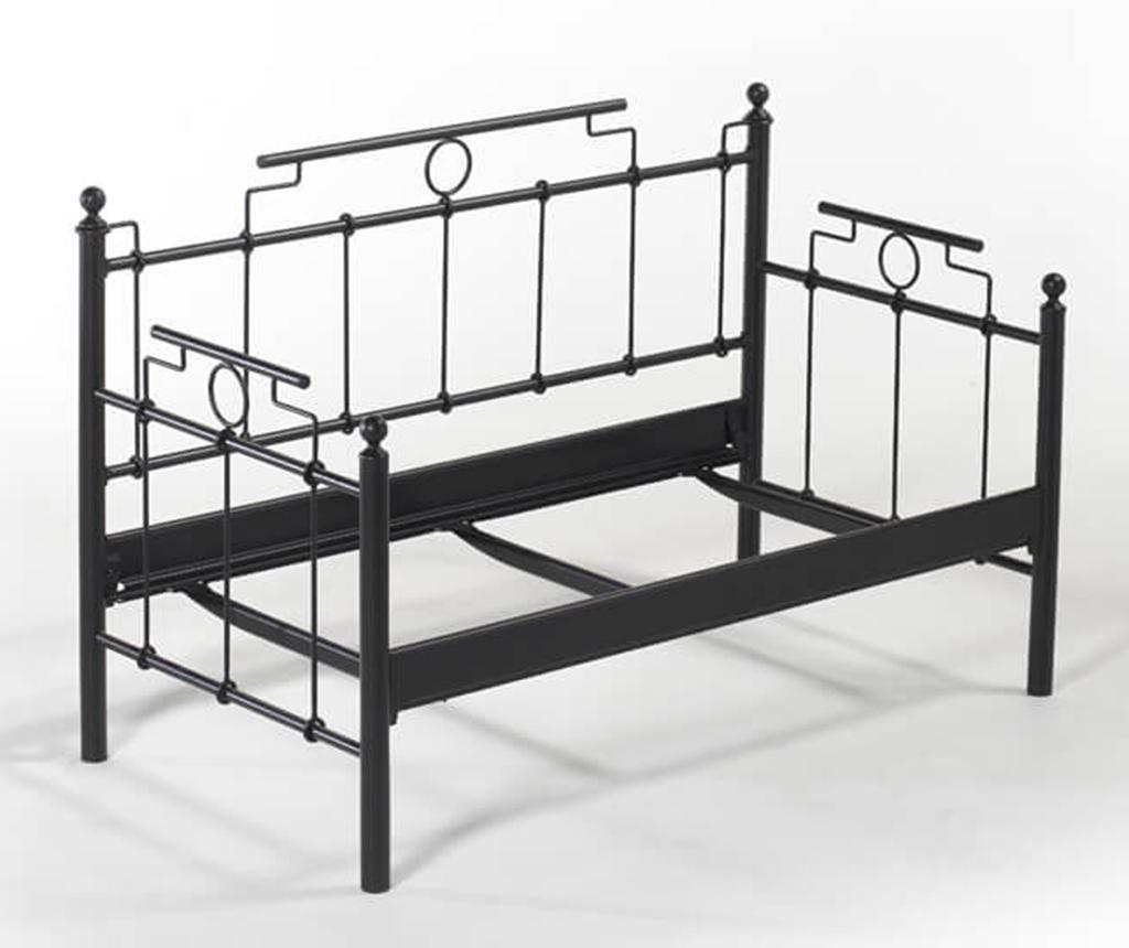 Canapea 2 locuri pentru exterior Hatkus Black and Beige