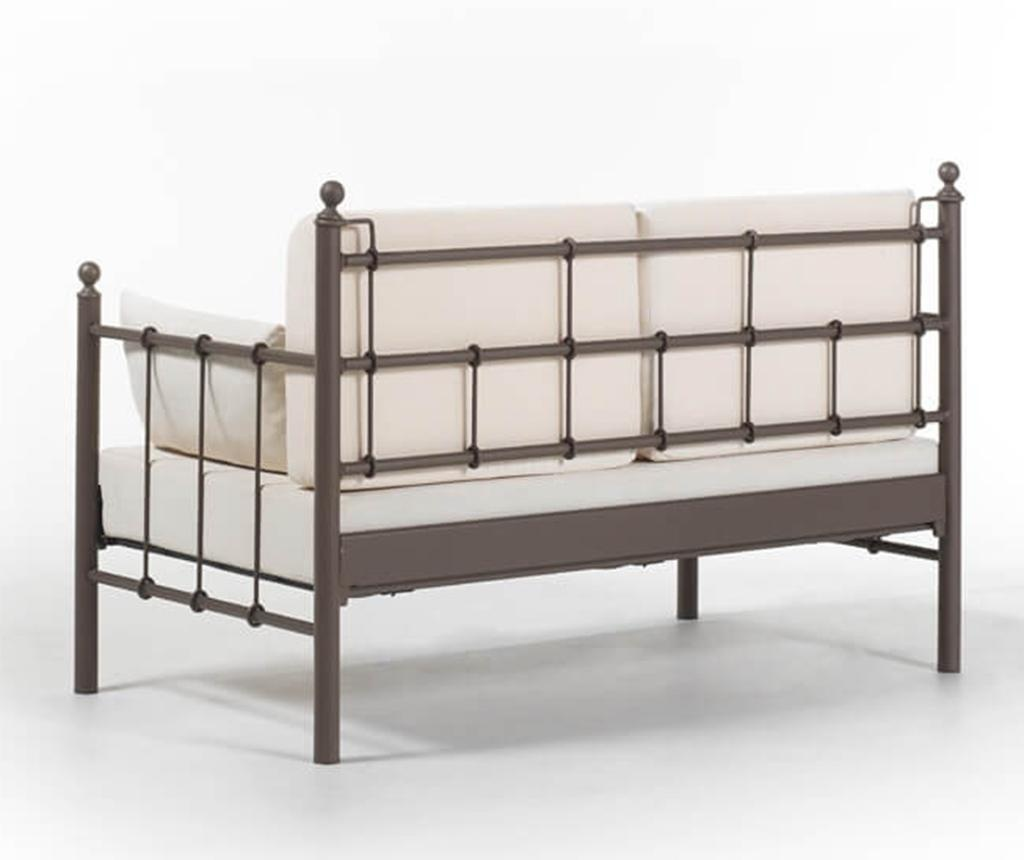 Canapea 2 locuri pentru exterior Lalas Brown and Beige