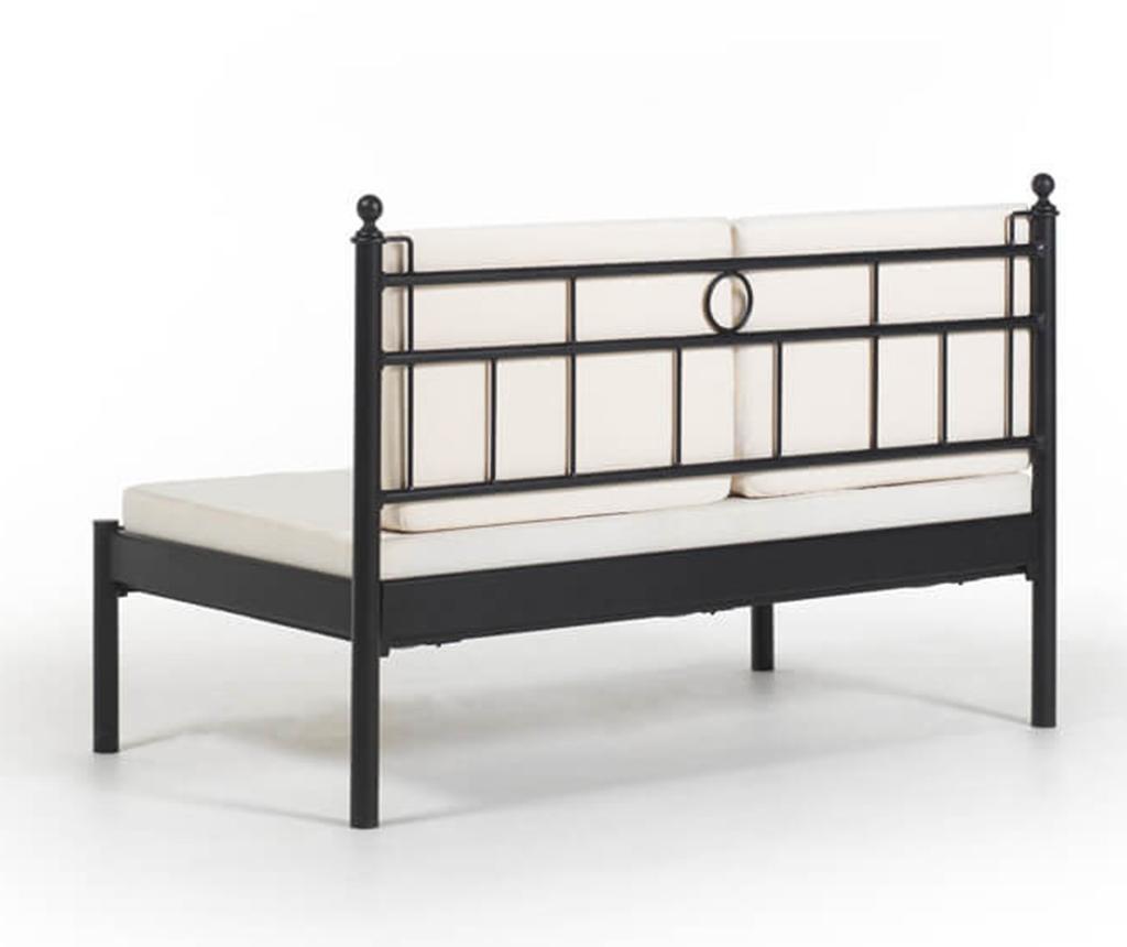 Canapea 2 locuri pentru exterior Mitas Black and Beige