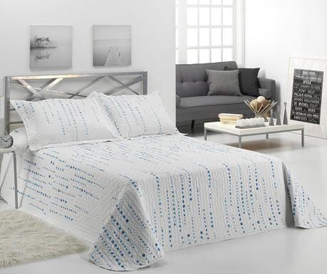 Zestaw pikowany na łóżko Single Irati Blue