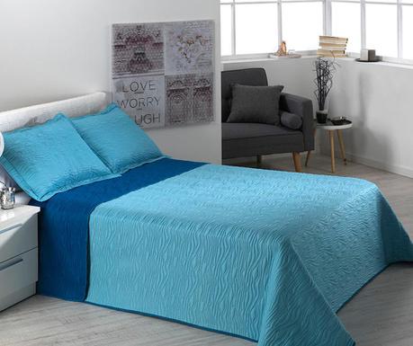Set s posteljnim pregrinjalom Single Extra Alma Waves Blue