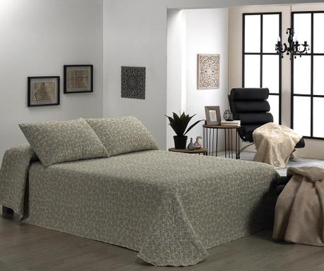 Set s prešitim posteljnim pregrinjalom Double Olivia