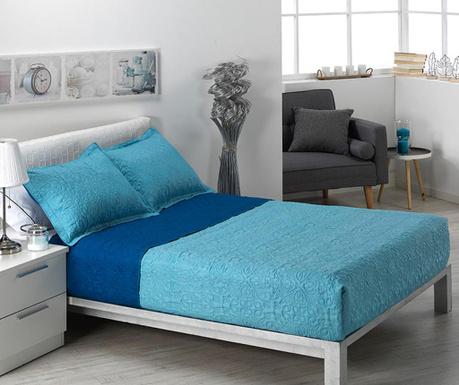 Zestaw pikowany na łóżko King Alma Pattern Blue