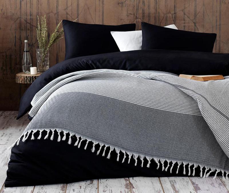 Anna Yatak Black Pique ágytakaró 220x240 cm